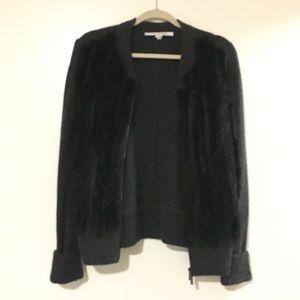 DVF Jacket with Rabbit Fur
